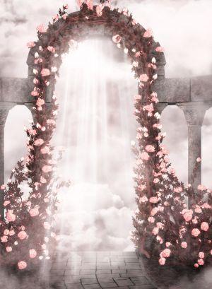 玫瑰墙婚礼婚庆海报背景