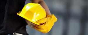 工程师黄色安全帽背景