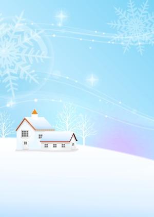 风景蓝色天空白雪背景