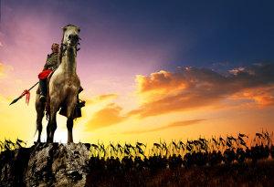 战争骑马背景