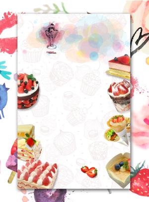 甜品美食海报