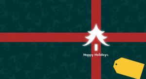 节日快乐圣诞节元旦节礼物圣诞树