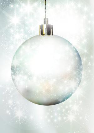 白色梦幻圣诞背景