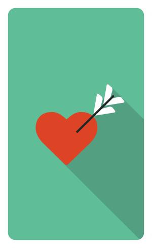 爱心花束情书