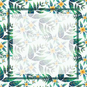 花朵绿叶包装矢量背景