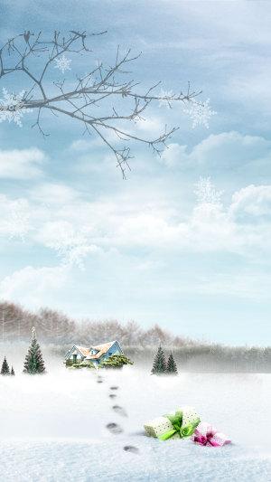 大雪纷飞 雪景PSD源文件