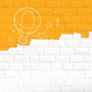 时尚手绘热气球背景图