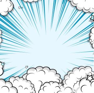 爆炸云层海报背景