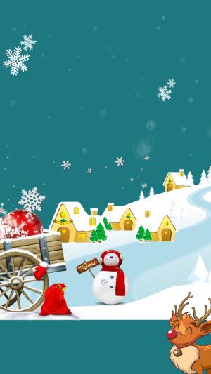 圣诞背景素材PSD