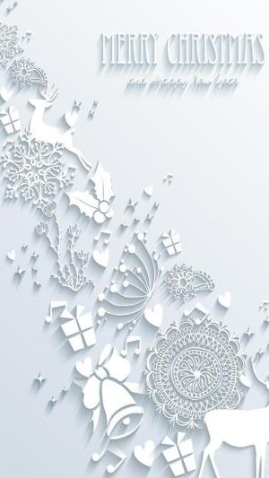 圣诞节白色背景海报