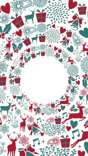 圣诞花圈海报背景PSD
