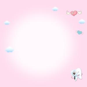 可爱小牙齿粉色背景主图