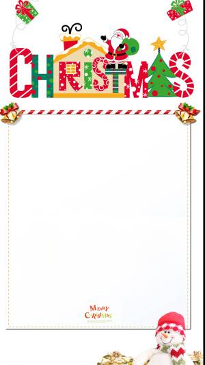 简约白色圣诞PSD分层H5背景