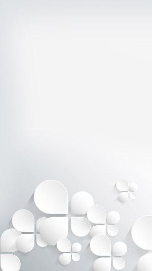 白色淡雅H5背景图片