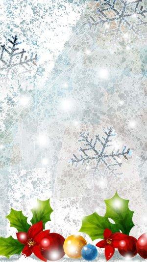 背景H5白色圣诞