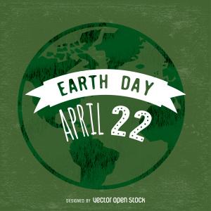 世界地球日主题海报背景素材
