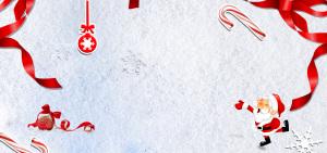 圣诞简约白色海报背景