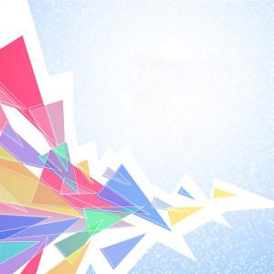 彩色三角形海报背景