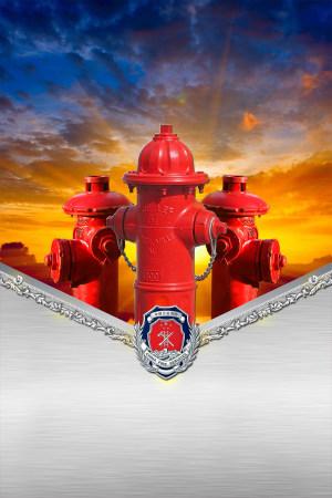消防安全宣传海报背景色彩