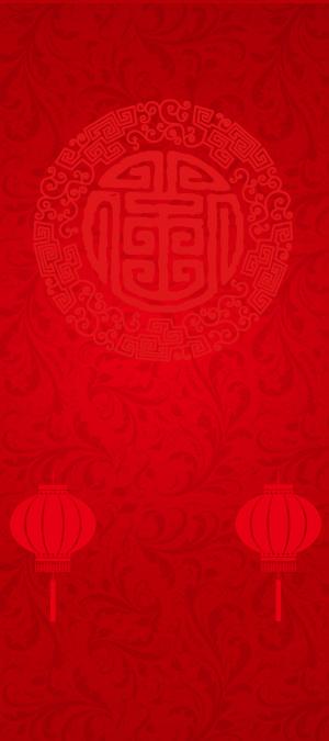 中国风年会主题展架背景素材