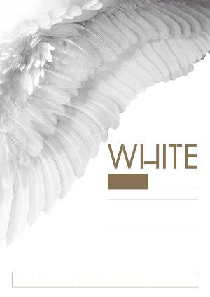 白色情人节翅膀天使酒吧派对海报