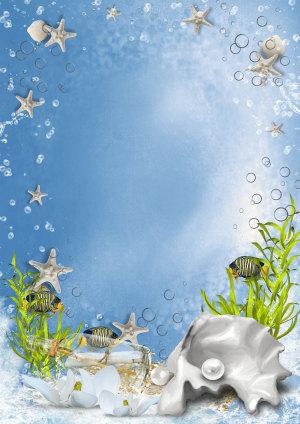 水滴海洋海报素材