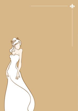 白色婚纱结婚女性幸福婚纱照背景素材