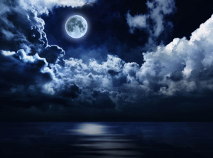 夜色海报背景