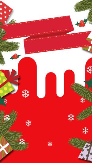 圣诞节红色扁平H5背景psd源文件下载