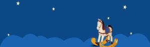卡通蓝色母婴淘宝海报背景图