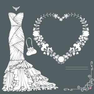 高贵婚纱灰色背景