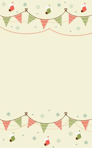 圣诞小清新童趣DM单