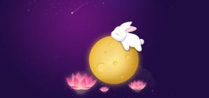 月亮月兔传统背景