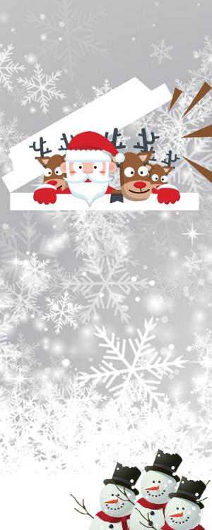 白色圣诞雪人海报