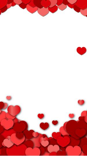 红色心形爱情H5背景