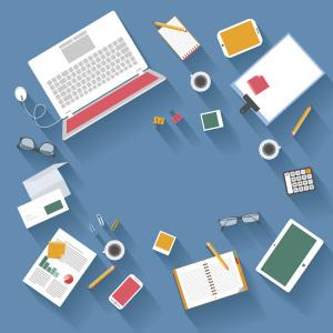 扁平商务企业办公桌面背景素材