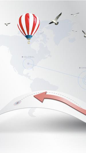 热气球科技公司PSD分层素材