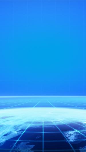 蓝色天空白云PSD分层素材