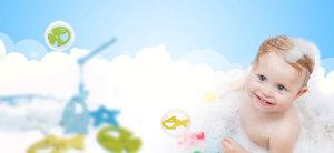 婴儿几何渐变蓝色淘宝海报背景