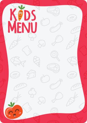 韩式儿童餐饮海报菜单手绘背景素材