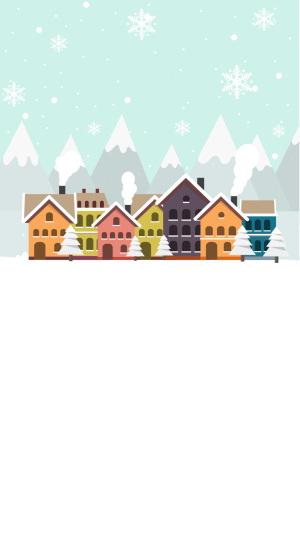 白色城市冬季图片