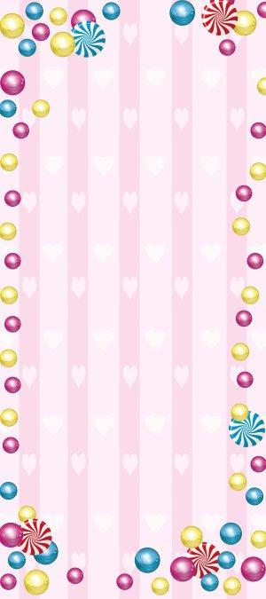粉色爱心背景展架背景素材
