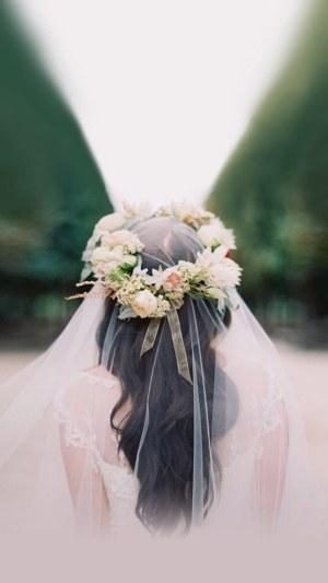 白色婚纱情人节主题H5背景