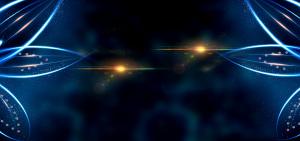 蓝色炫光花朵科技商务PSD分层模板