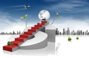 成功阶梯商业商务背景素材
