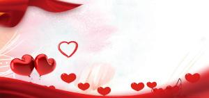 红色爱心浪漫情人节背景
