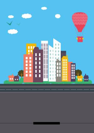 文明城市  公益广告海报背景素材