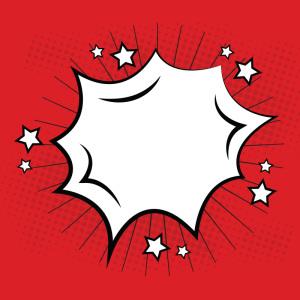 红色漫画手绘爆炸气泡框矢量素材主图
