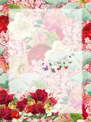 妇女节花卉海报背景素材