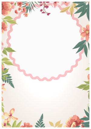 三八女王节简约海报背景素材